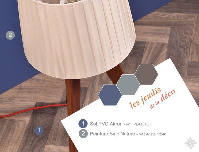 Sol PVC imitation parquet bois chevron pas cher