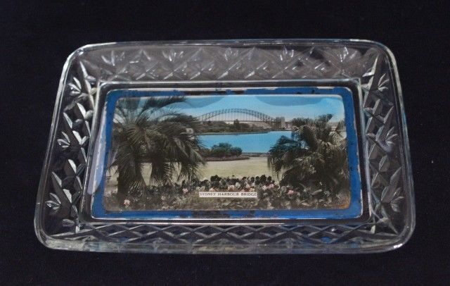 Striking Australiana CCG View Ware Dish Featuring Sydney Harbour Bridge