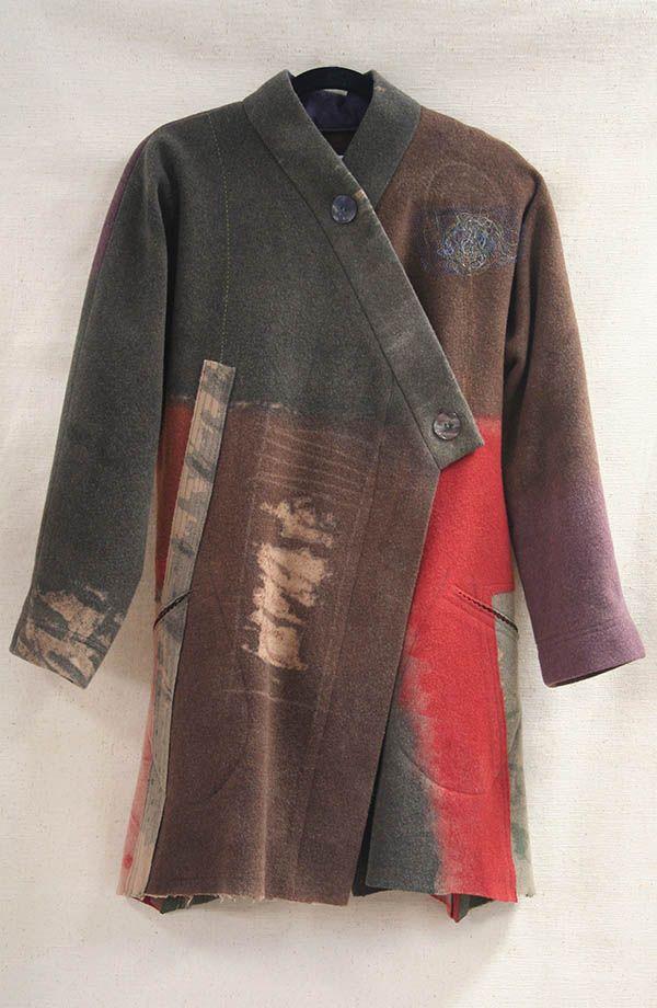 EF Vest Tibetan red in mixed silk   Holly Badgley Design