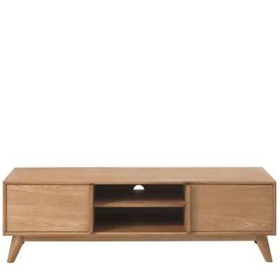 Add a touch of chic Scandi style to your home decor with the Deakin oak TV unit #Scandinavian #homedecor #interiors