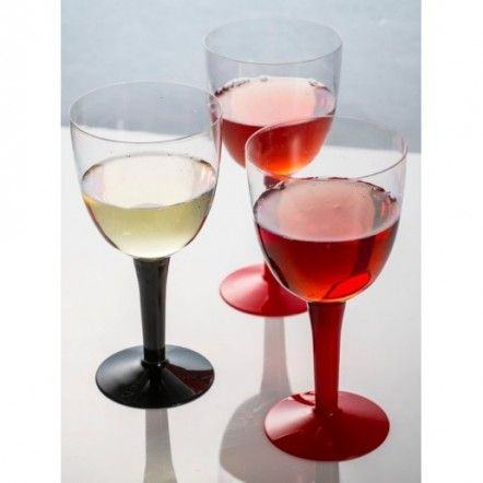 Find More Event & Party Supplies Information about Promotion   Party Suppliers, Disposable Plastic Tableware, 190*55mm 2 Pieces Black Base 300ml Vintage Wine Cup, 24/Pack,High Quality tableware kitchenware,China cup Suppliers, Cheap cup lens from Northan International Company on Aliexpress.com