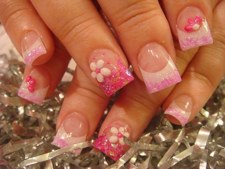 Nail Art Design: Nails Art Ideas, Spring Nails, Pink Nails, Makeup Tips, Acrylics Nails Design, Summer Nails Art, Nails Art Design, Flowers Nails, Cute Nails Design