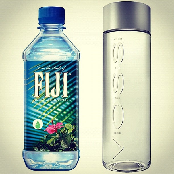 figi and voss...love these bottles for re-use