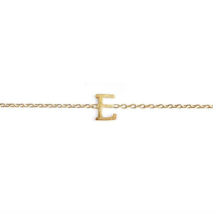 E Initial Bracelet