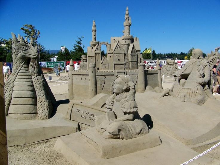 Qualicum Beach Sandcastle Competition, Qualicum Beach, BC, Canada