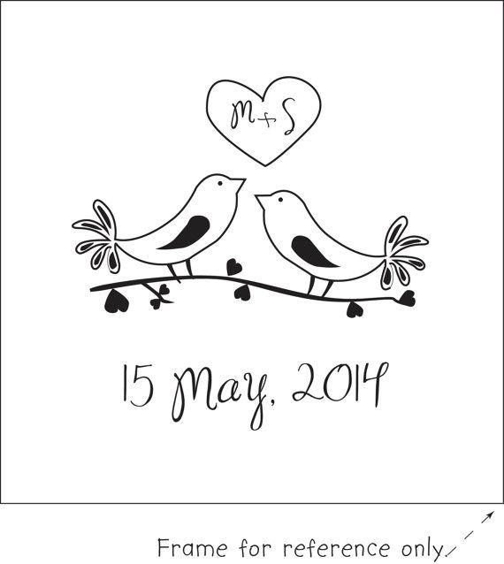 "Save the Date ""Love Bird"" Stamp"