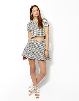 Olivia crop top tee & swing skirt
