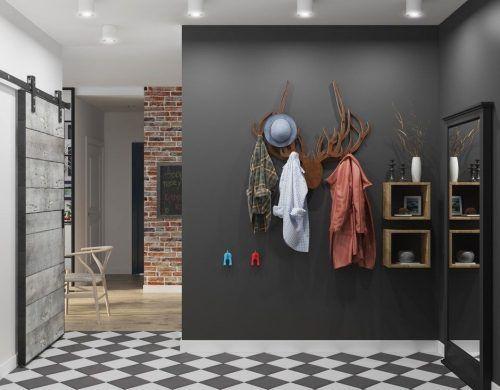 peinture couloir moderne sol en carrelage échéquier | Maison ...