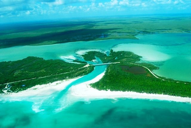 Sian Ka'an Biosphere Reserve is located just south of Tulum, some 40 miles south of Playa del Carmen. Made up of 1.3 million acres of pristine, natural, protected land, Sian Ka'an is a UNESCO World Heritage Site, is home to 23 known archaeological site