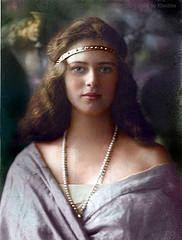 Princess Ileana of Romania. Early 1920s (klimbims) Tags: romania ileana recoloured princessileanaofromania