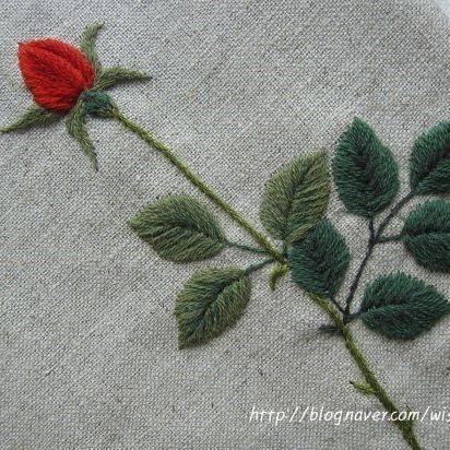 Rose #embroidery #needlework