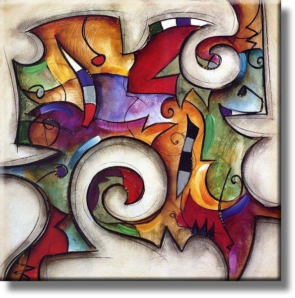 Cuadros reproducciones y laminas de alta calidad cuadros abstractos ii arte pinterest - Como pintar cuadros faciles ...
