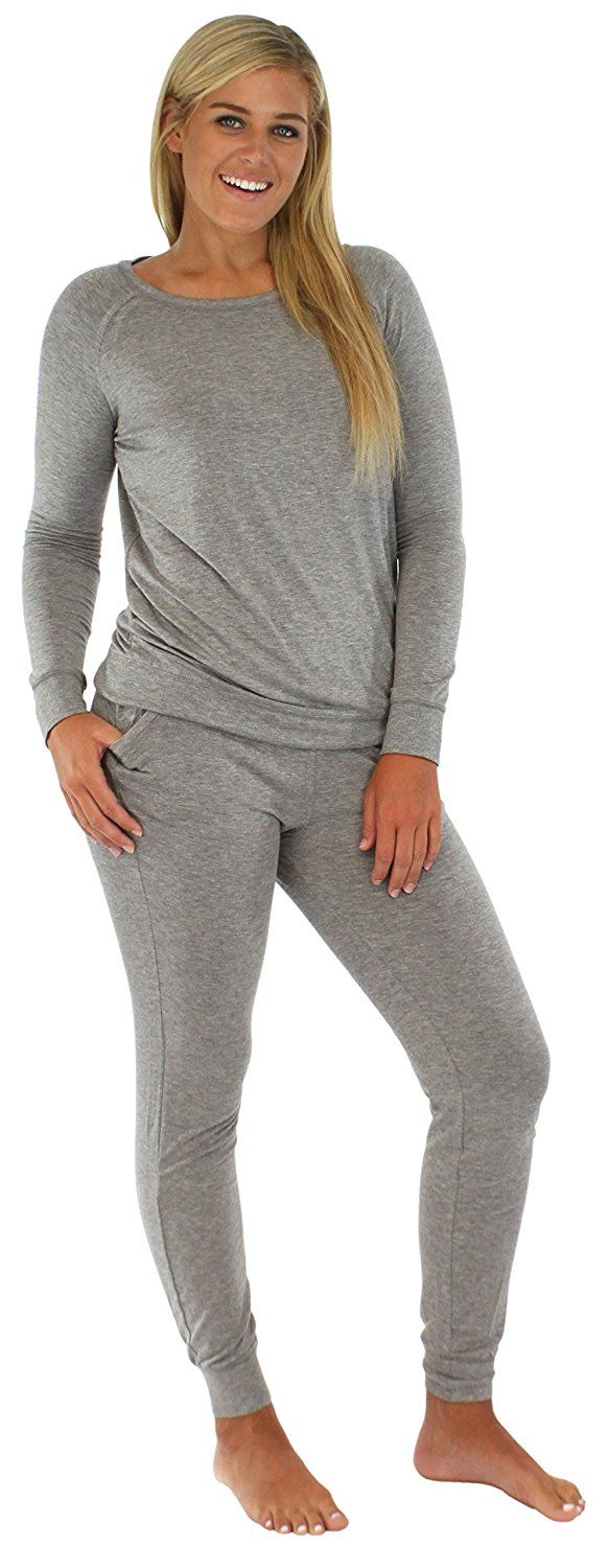 Sleepyheads Womens Sleepwear Knit Cuffed Jogger Pajama Pant Long Sleeve PJ Set * You can get additional details at the image link.
