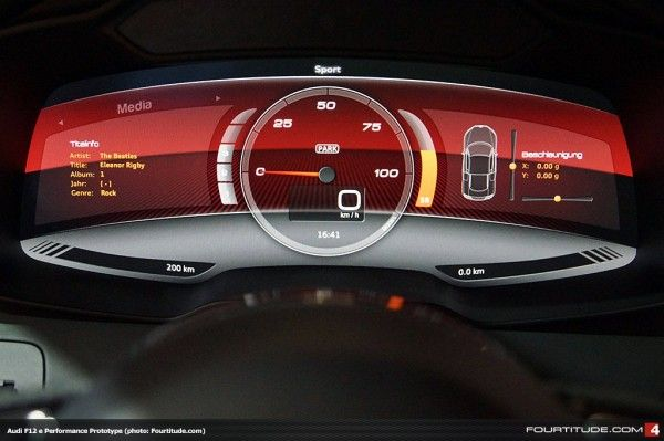 iPad User Interface Integration in Audi R8 F12 e Performance Prototype