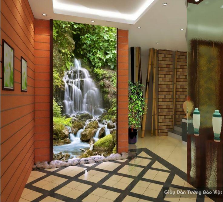 Decal dán kính mờ 3D đẹp K16235555 | Giấy dán tường Bảo Việt