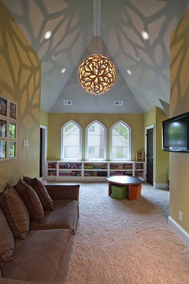 Bonus Room - eclectic - kids - charlotte - Plattner Custom Builders, LLC #Homedesigns  #Homedecor  #Interiordesign  #DesignIdeas