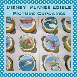 Edible Picture Disney Planes Cupcakes