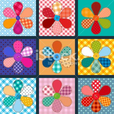 vector collection of material flowers Royalty Free Stock Vector Art Illustration
