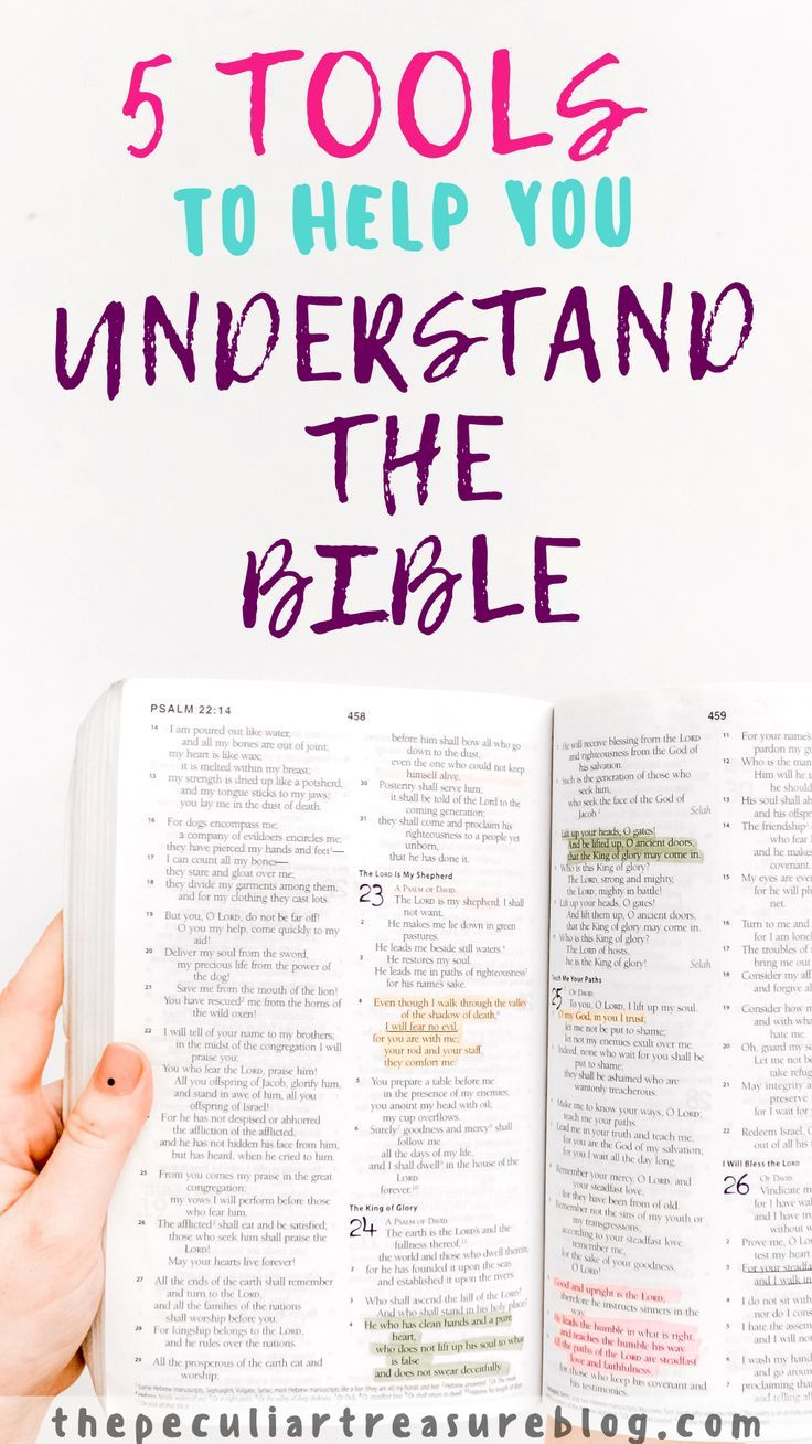 5 Tools To Help You Understand The Bible Understanding The Bible Bible Christian Devotions How to read bible with understanding