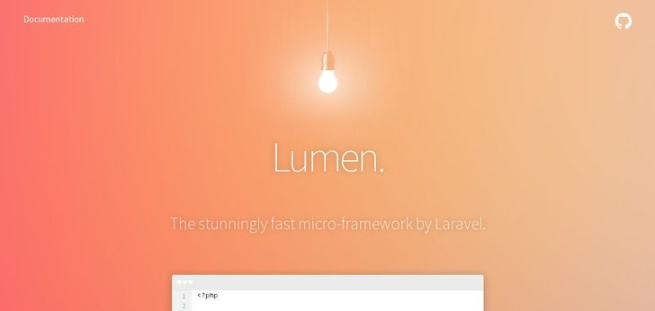 lumen.laravel.com website has a really Nice Web Design. Check it out now and find similar great web designs.