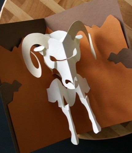 Kirigami Ram (Aries) Pop-up Card, Make Yourself