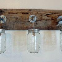 Bathroom Light Fixtures Shabby Chic 310 best rustic love images on pinterest | mason jar lighting, jar