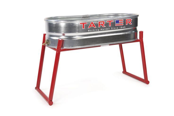 Galvanized Water Tank 2x1x4 with Spigot - Tarter Farm & Ranch