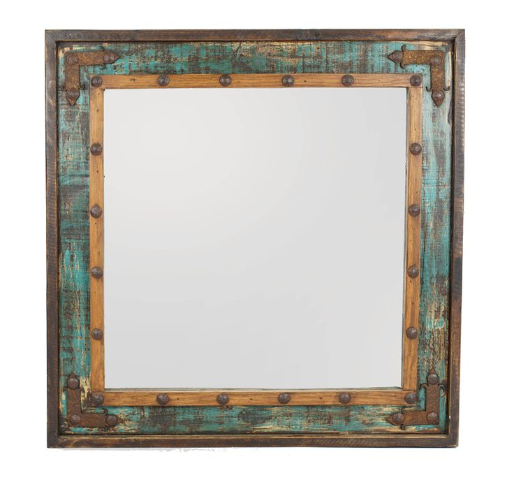 Best 25 western mirror ideas only on pinterest rustic for Teal framed mirror