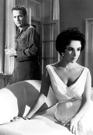 'Cat on a Hot Tin Roof' - starring  stars Elizabeth Taylor and Paul Newman