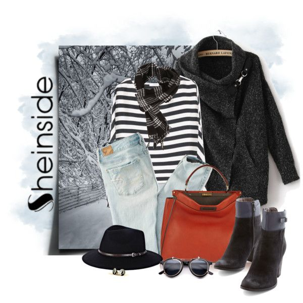 Sheinside by marcialaraia on Polyvore featuring moda, MANGO, American Eagle Outfitters, Seychelles, Fendi, Sole Society and Spitfire