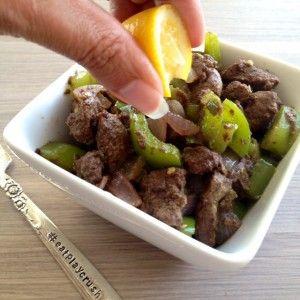Bangin' Liver - chicken or beef liver, garlic, bell pepper, chili pepper, cumin, cinnamon, ginger, cloves, cardamom, lime or lemon, salt