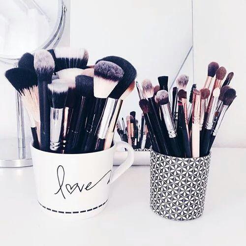 Organização pincéis - Maquiagem
