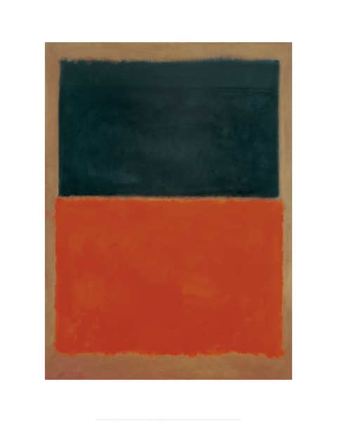green and tangerine on red, 1956 [mark rothko]