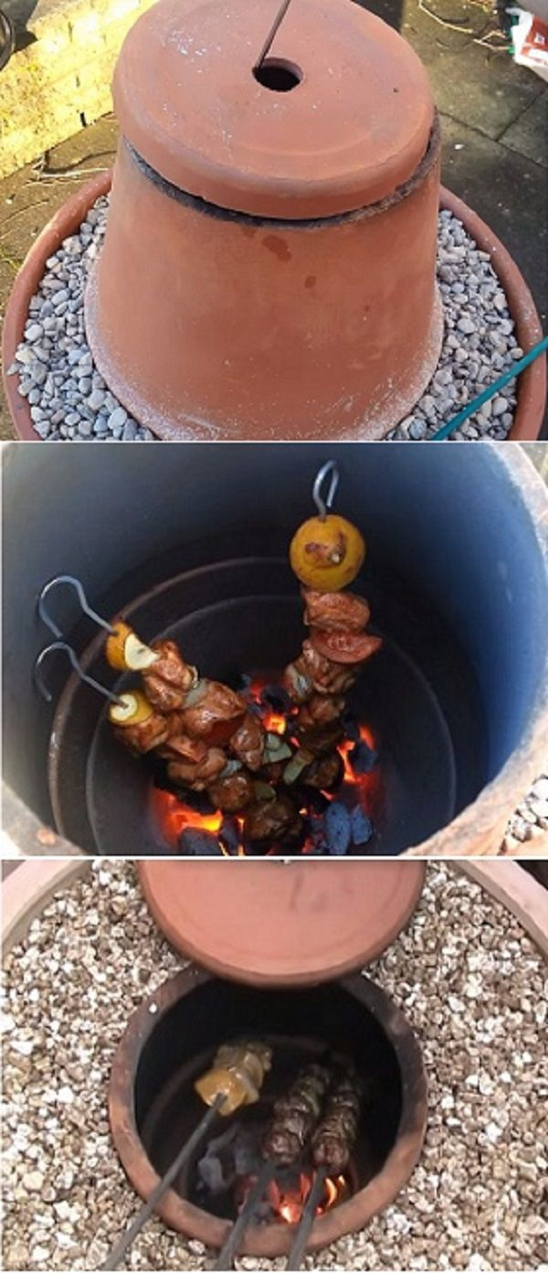 How To Make a Flower Pot Tandoor Oven- DIY