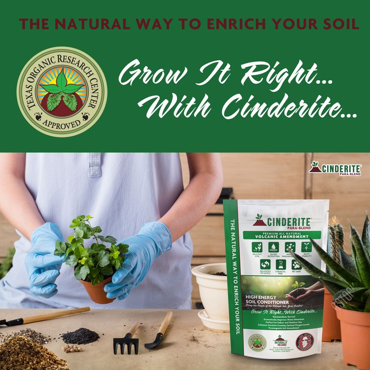 After you apply cinderite to your soil there is no need to