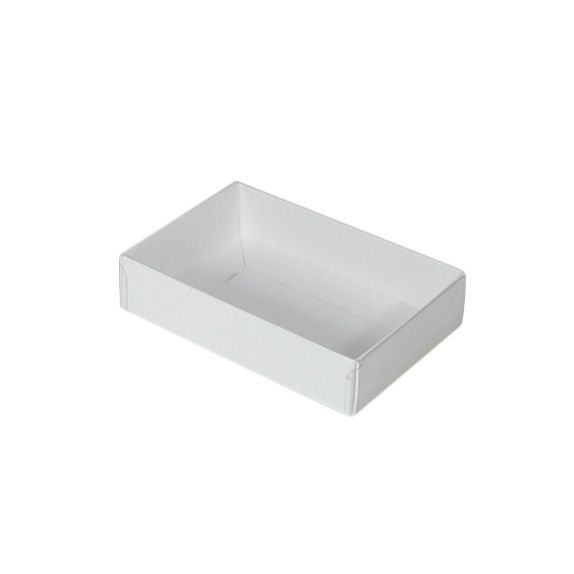Rectangle 6 Gift Box with Clear Lid - Smooth White  (SOLD OUT UNTIL LATE FEB-EARLY MARCH)