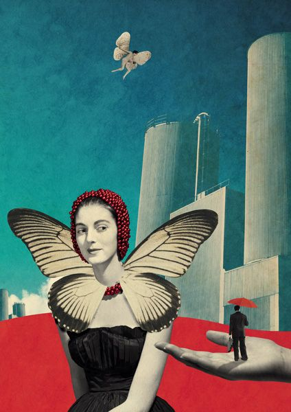 Butterfly Factory - Julien Pacaud • Illustration • Perpendicular Dreams