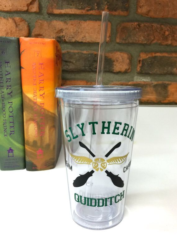 Slytherin Quidditch Team Captain Harry Potter Inspired Acrylic Tumbler