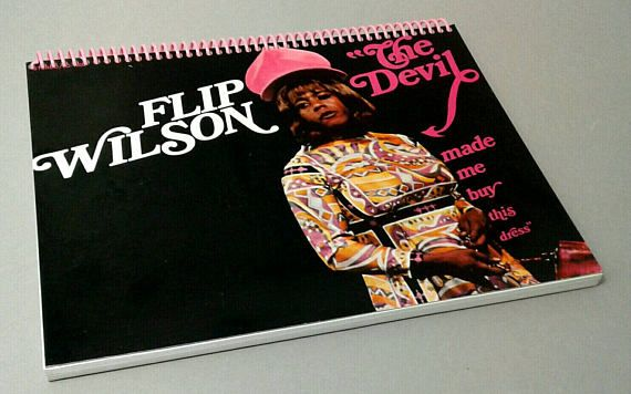 Notebook Flip Wilson Vintage Television Television Custom