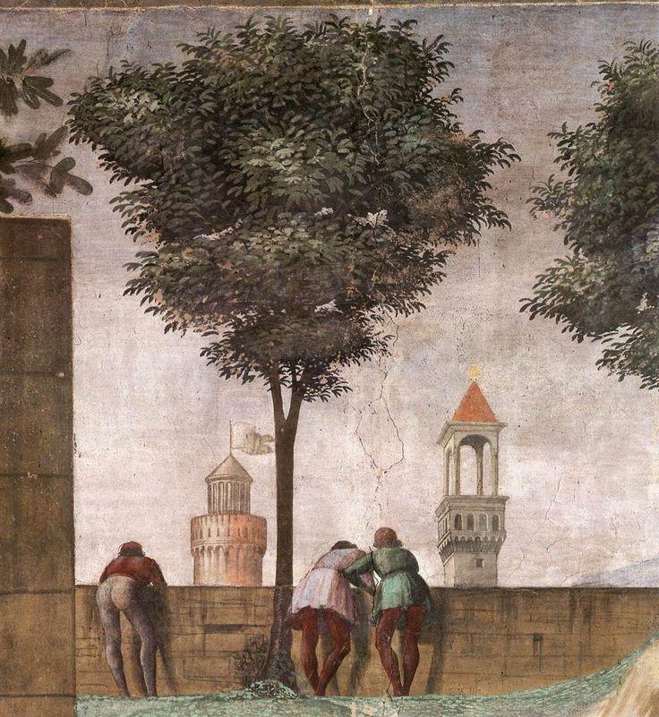 ❤ - DOMENICO GHIRLANDAIO (1449 - 1494) - Visitation, detail - 1486/90. Fresco | Cappella Tornabuoni, Santa Maria Novella, Florence.