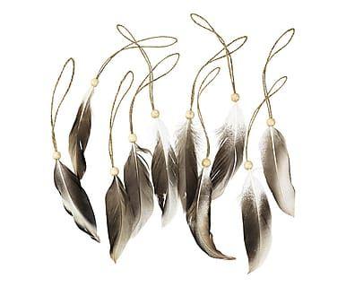 """Komplet 10 dekoracji """"Feather"""", 12 x 1 cm"""