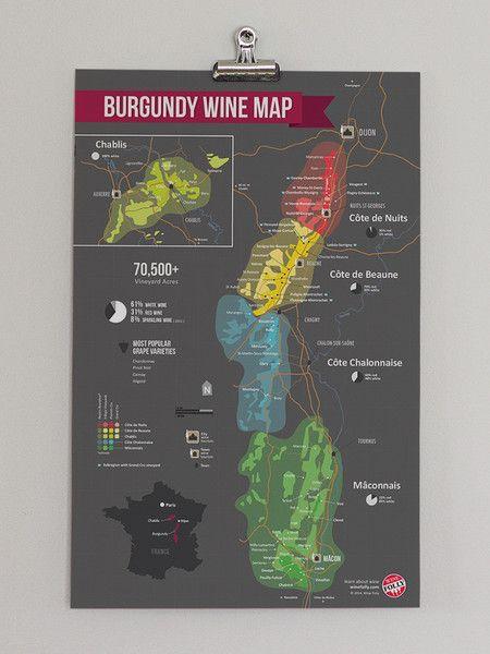 Burgundy Regional Wine Map