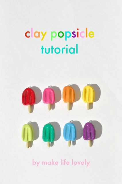 Clay popsicle charms tutorial   Make Life Lovely #sculpeyprojects