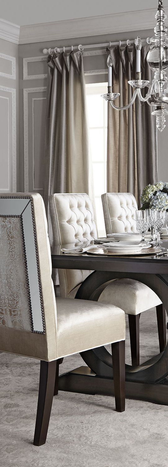 Britney dining chairs modern glam modern glam for Glam dining room ideas