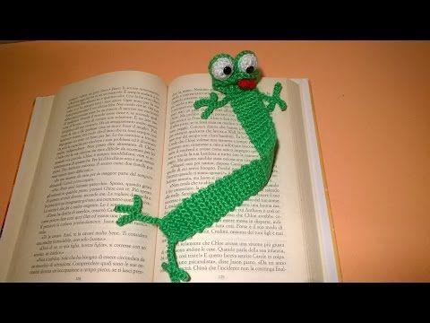 Rana Segnalibro Uncinetto Tutorial -Amigurumi - Crochet Frog Bookmark - Rana Marcador #rana  #amigurumi #uncinetto #segnalibro  #tutorial #bookmark #crochet #frog #pattern  #ranita #patron #marcapagina #marcador #croche