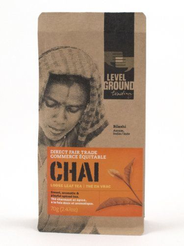 Fair Trade Traditional Loose Leaf Spiced Chai Black Tea India 2.47 oz 70 g -- Click on the image for additional details.