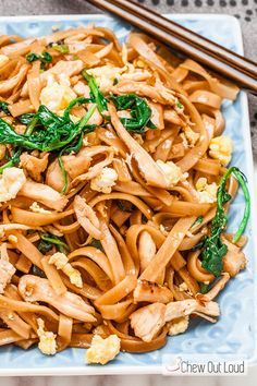 Thai Stir Fry Noodles - Pad See Ew. Way easier than you thought it would be to make it at home. Healthy and delicious!