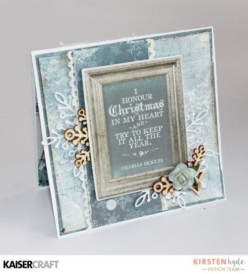 KAISERCRAFT - FROSTED - CHRISTMAS CARDS - KIRSTEN HYDE - MYHYDEAWAY - 7