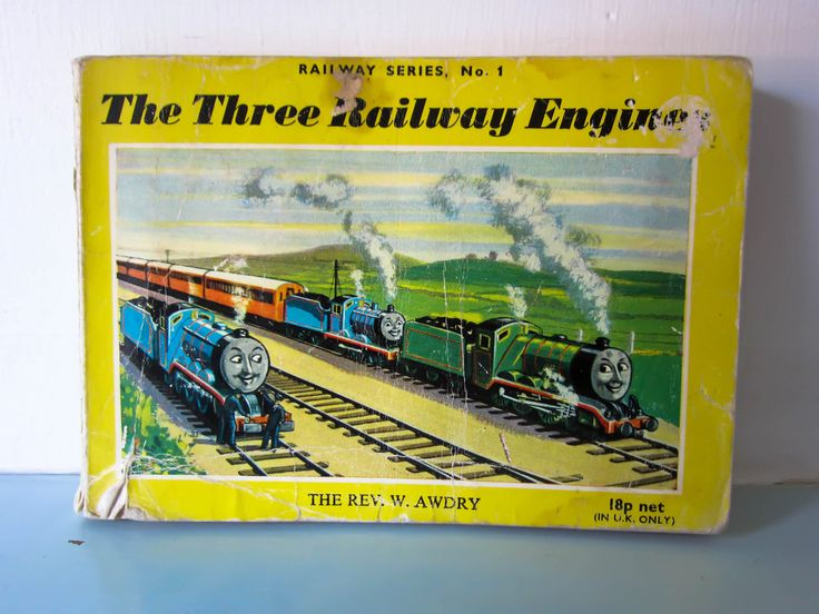 Thomas the tank engine, The three railway engines, Vintage thomas book, Thomas book, children's book, English, Steam train, collectible book by thevintagemagpie01 on Etsy