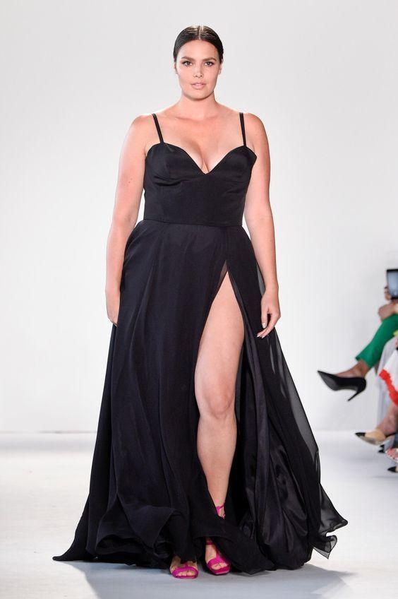 ba4b4e3951a vestidos de gala plus size modernos